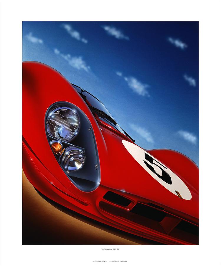 Cars Painting - Ferrari P3 by Hugo Prado