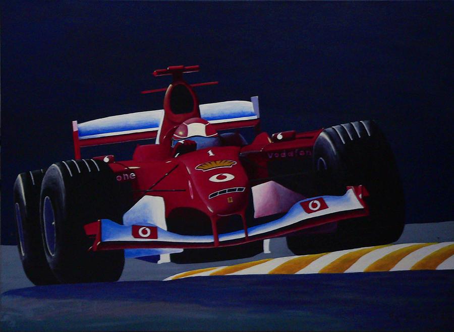 Car Painting - Ferrary by Efthimios Papadopoulos