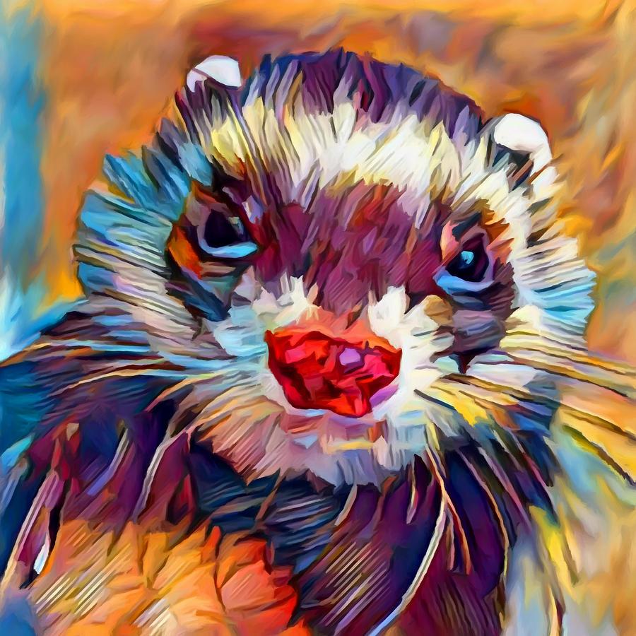 Ferret Painting - Ferret by Chris Butler