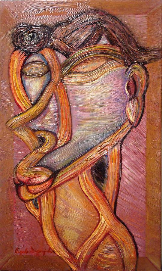 Ferret Painting - Ferret Toupe by Angelo Ingargiola
