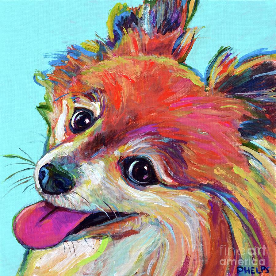Pomeranian Painting - Ferris by Robert Phelps