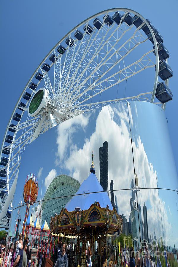 Ferris Wheel Photograph - Ferris Wheel Wonder by Andrea Simon