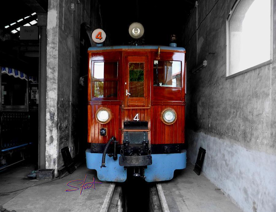 Train Photograph - Ferrocarrril De Soller by Charles Stuart
