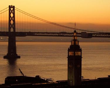 San Francisco Photograph - Ferry Building - Bay Bridge by Richard Nodine