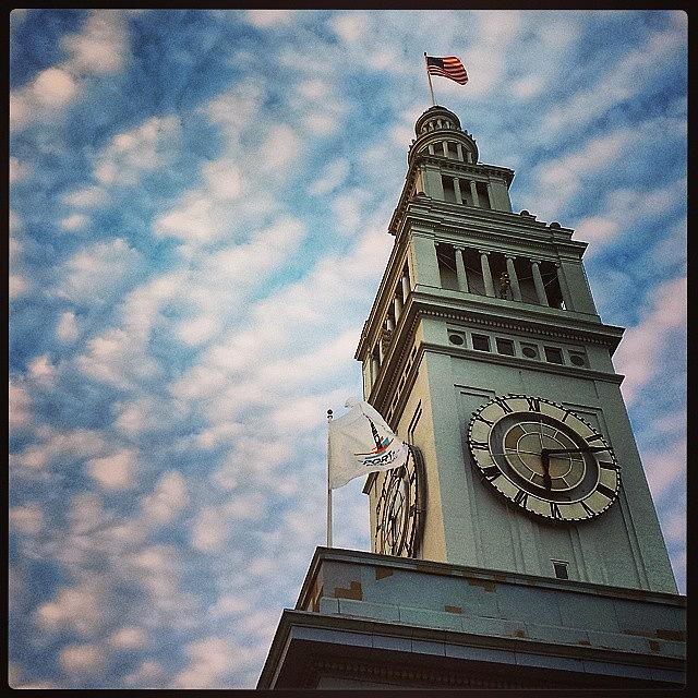 Ferry Building clock tower by Nimmi Solomon