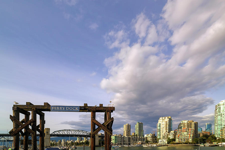 Granville Island Photograph - Ferry Dock At Granville Island In British Columbia by David Gn
