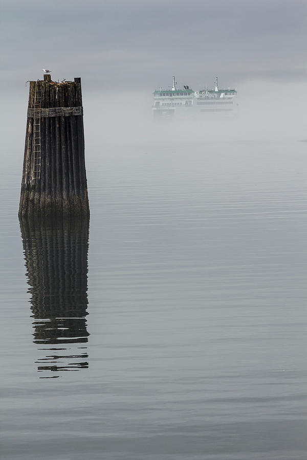 Ferry Hiding in the Fog by Tony Locke