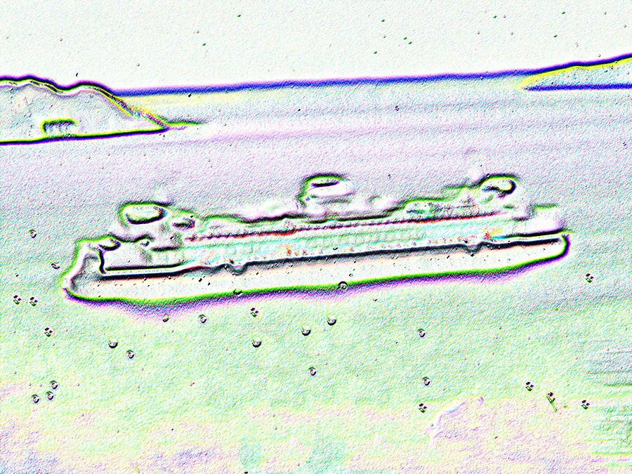 Seattle Photograph - Ferry In The Rain by Tim Allen