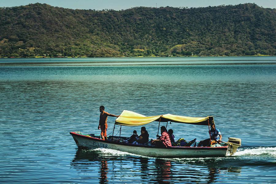 Ferry Photograph - Ferry - Lago De Coatepeque - El Salvador I by Totto Ponce