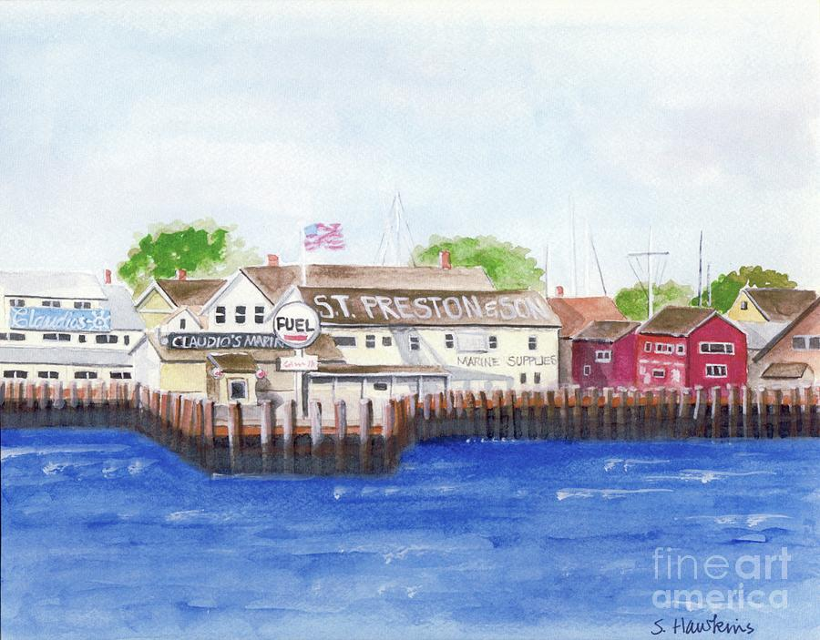 Greenport Painting - Ferry To Greenport by Sheryl Heatherly Hawkins