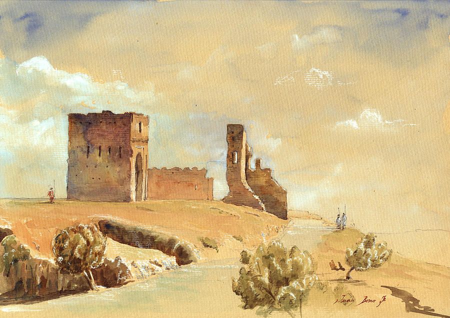 Fes Painting - Fes Morocco Orientalist Painting by Juan  Bosco