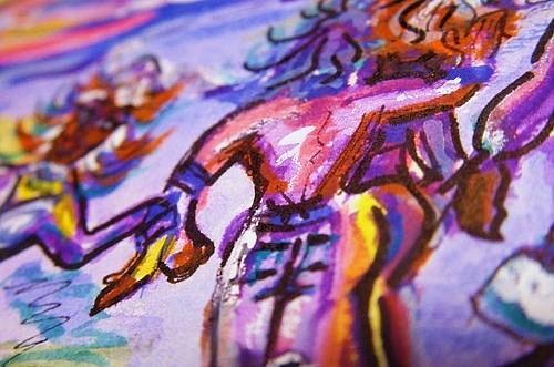 Festa - Fever Painting by Nila  Poduschco