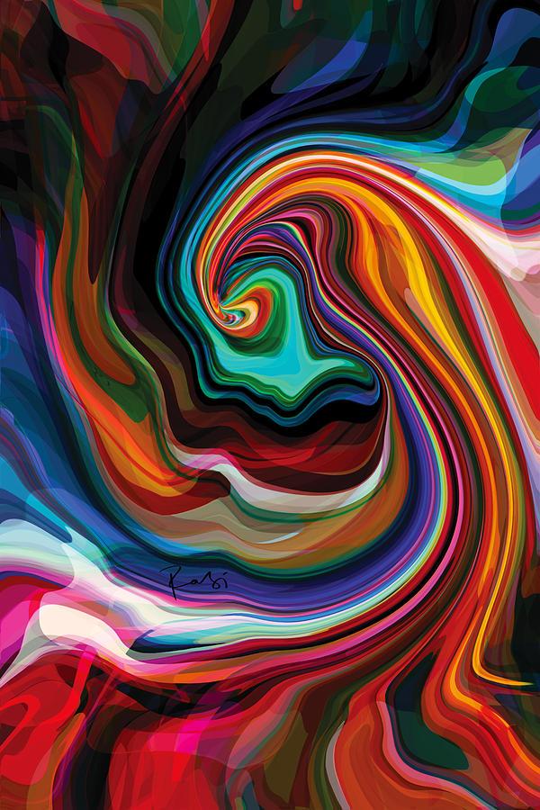 Colour Digital Art - Festival 1 by Rabi Khan