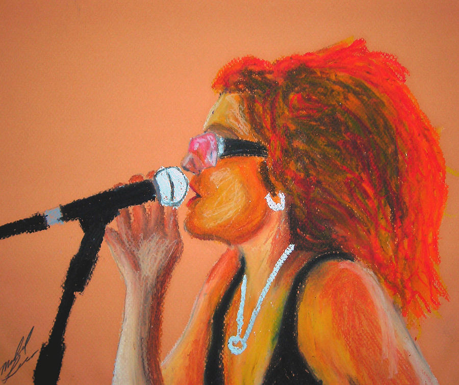 Female Singer Painting - Festival Diva IIi by Michael Lee