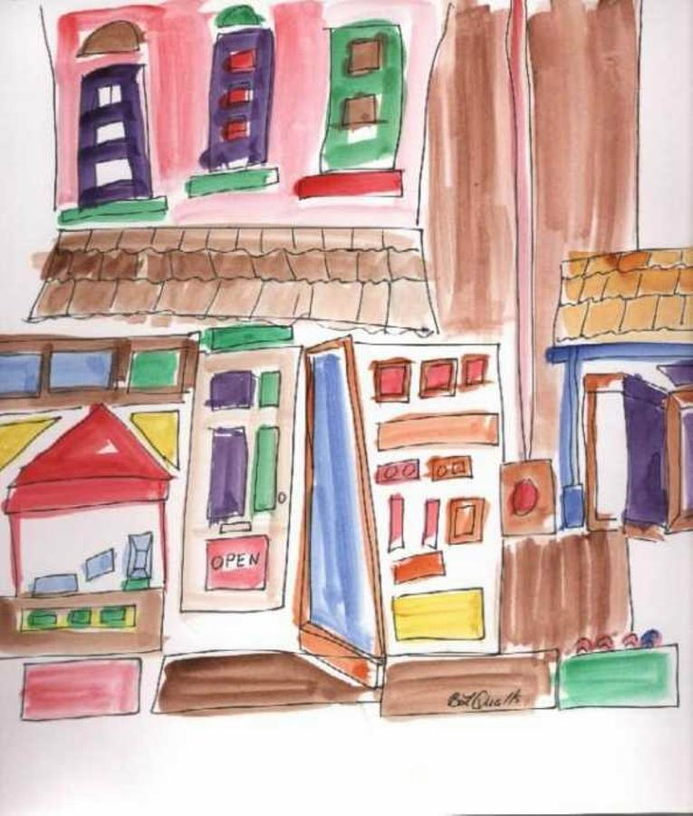 City Painting - Festival In The City 3 by B L Qualls
