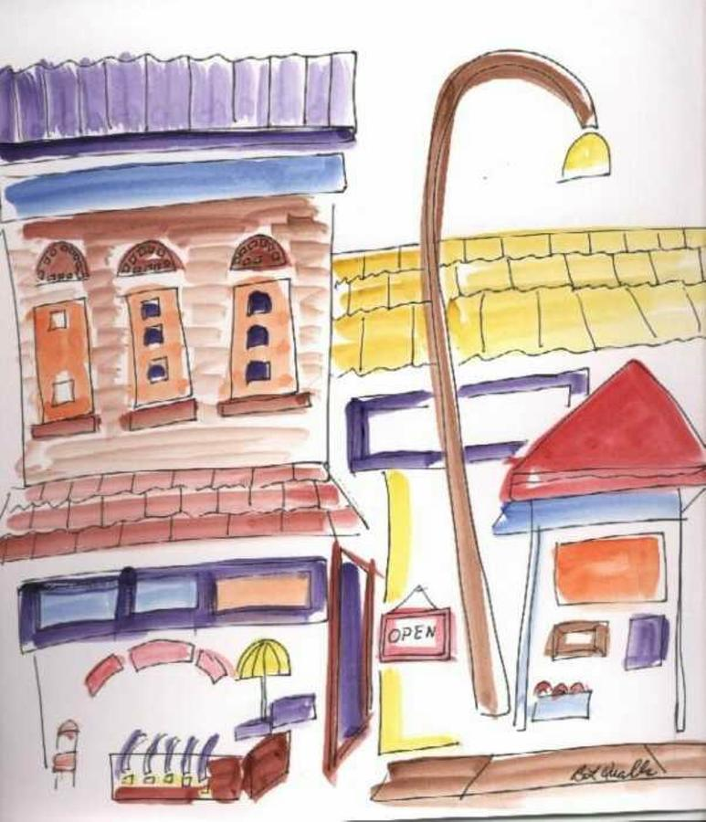 Watercolor Painting - Festival In The City 4  by B L Qualls