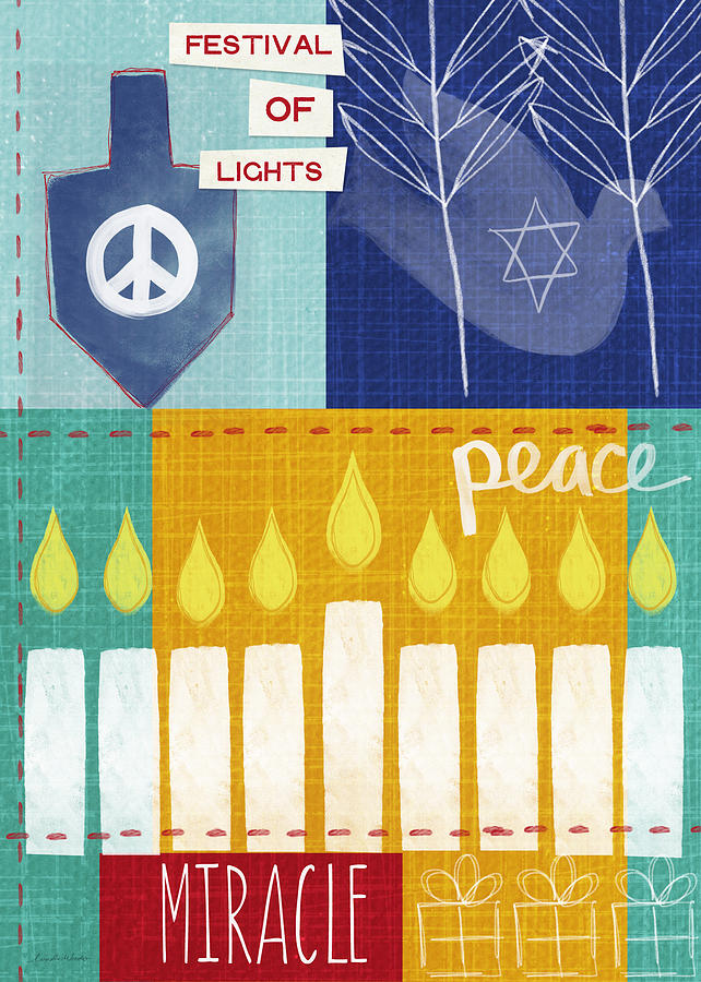 Festival Of Lights- Hanukkah Art By Linda Woods Mixed Media