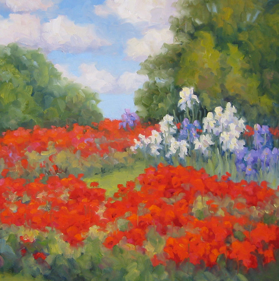 Poppies Painting - Festival Of Poppies by Bunny Oliver