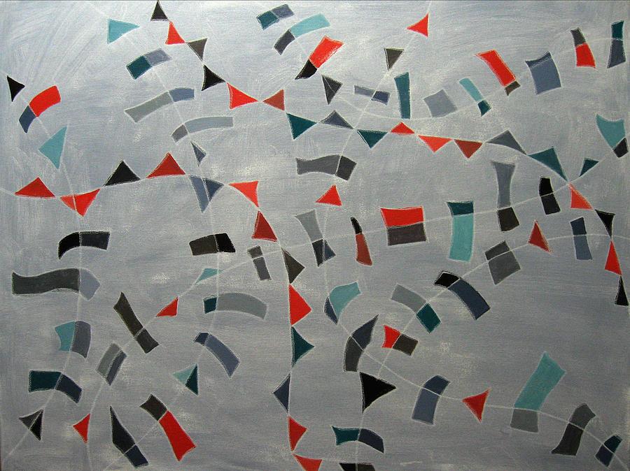 Abstract Painting - Festivity by Aliza Souleyeva-Alexander