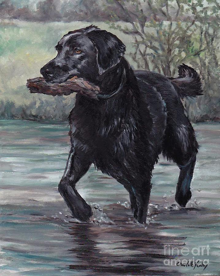 Labrador Retriever Painting - Fetch by Charlotte Yealey