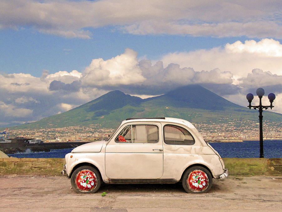 Fiat 500 Digital Art - Fiat 500 Pizza by Dario ASSISI