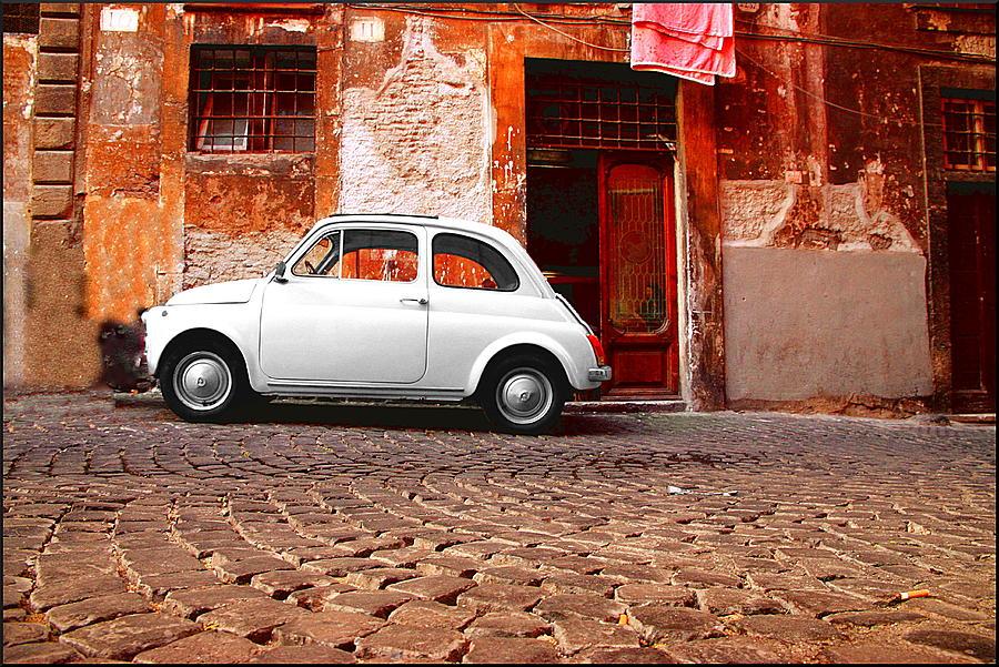 Fiat Photograph - Fiat 500 by Valentino Visentini