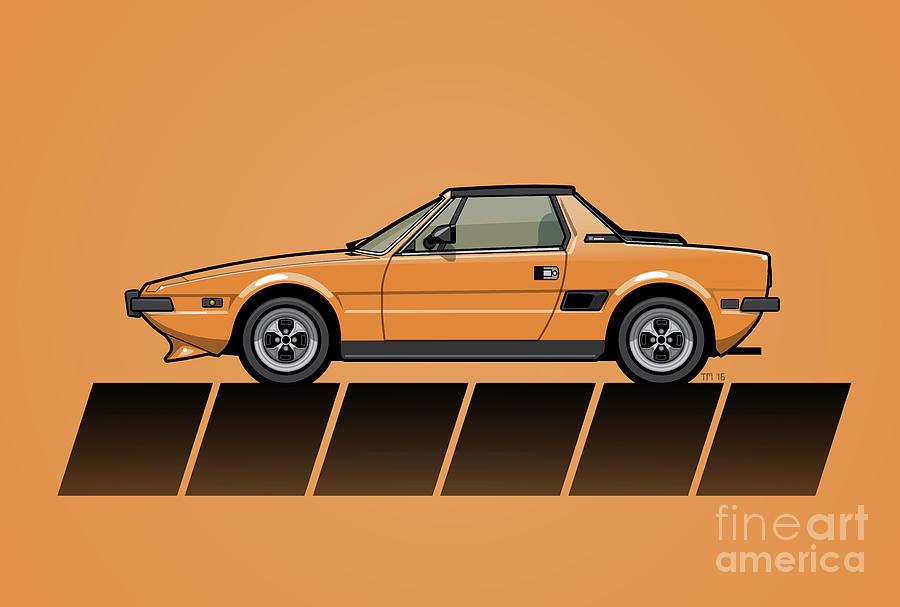 Fiat Bertone X1/9 Orange Stripes by Monkey Crisis On Mars