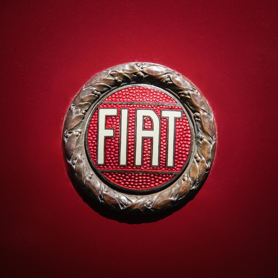 Car Photograph - Fiat Emblem -1621c by Jill Reger