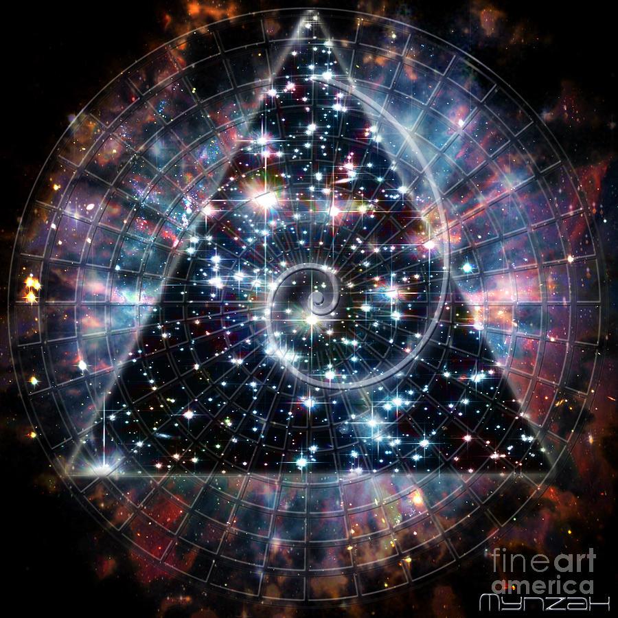 Sacred Digital Art - Fibonacci  by Mynzah Osiris
