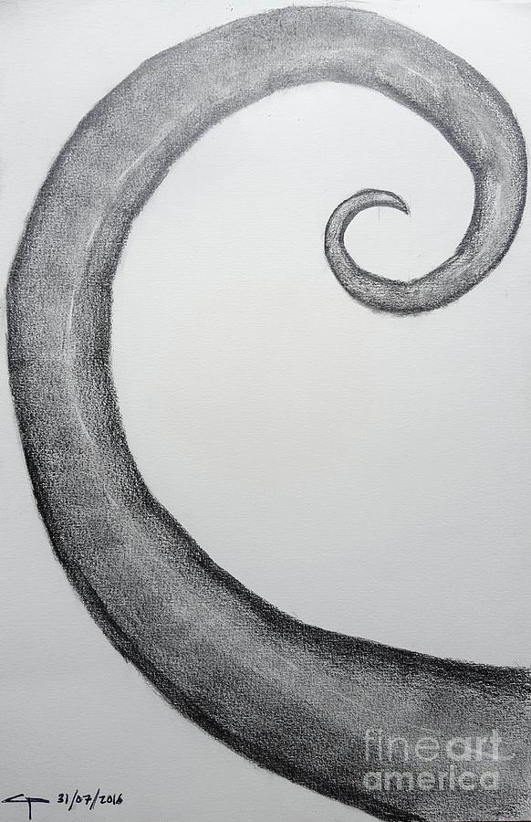 Fibonacci Drawing - Fibonacci Spiral No.1 by Cesar Padilla