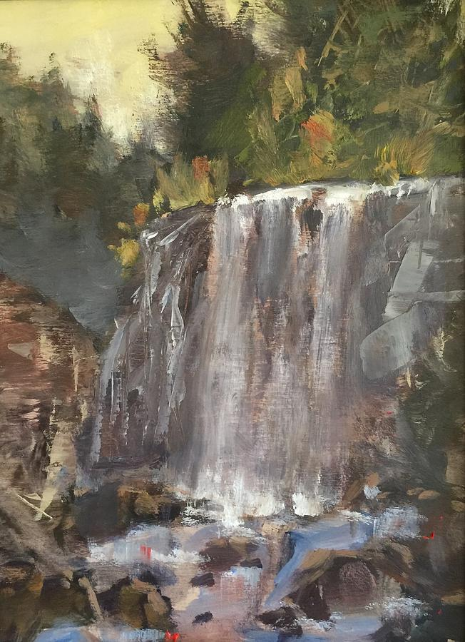 Landscape Painting - Fictitious Falls by Marty Coulter