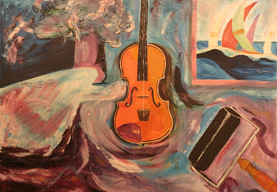 Fiddle Painting by Biagio Civale