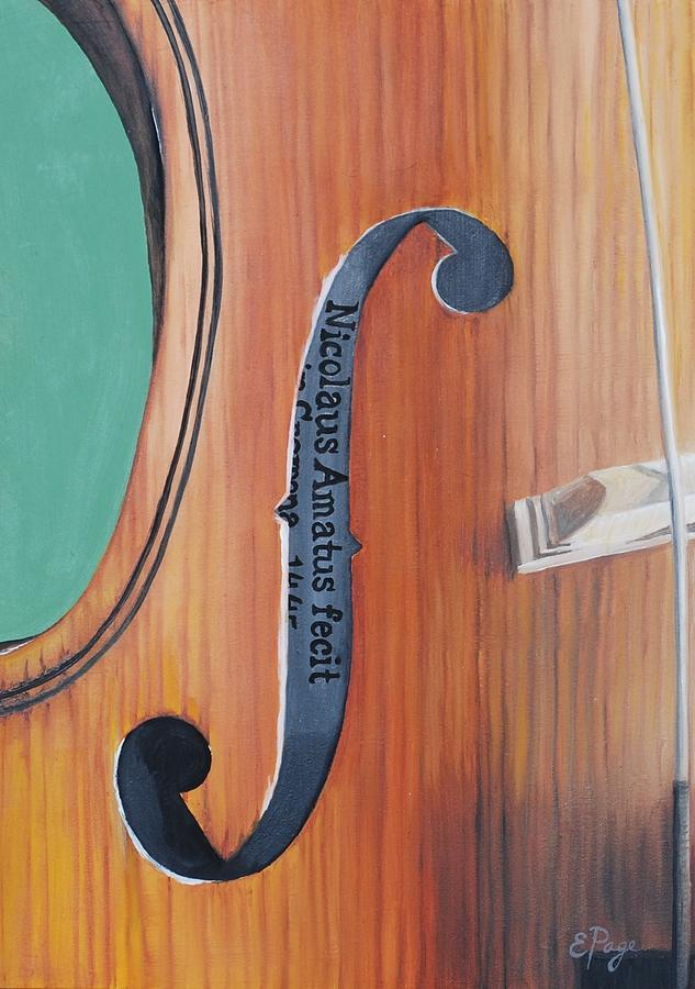 Fiddle Painting - Fiddle I by Emily Page