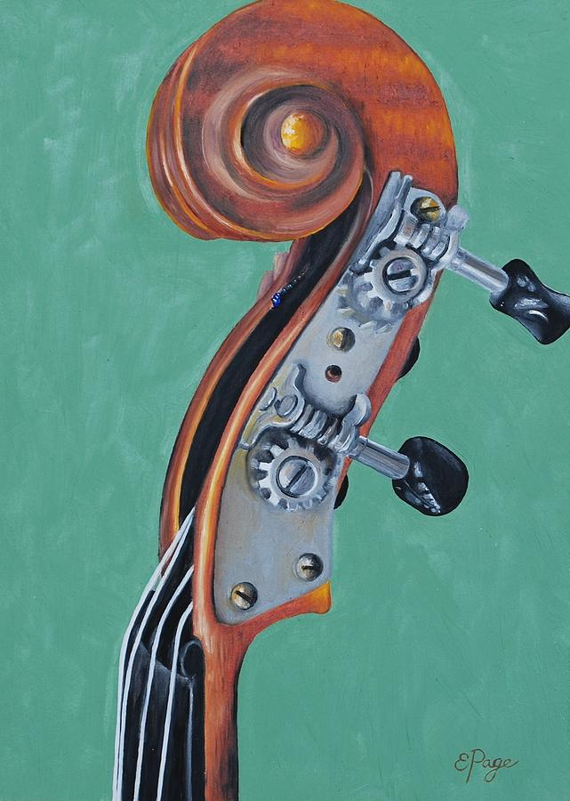 Fiddle Painting - Fiddle Iv by Emily Page