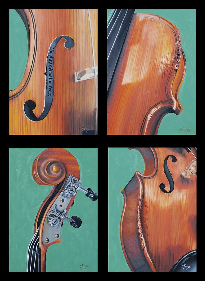 Fiddle Painting - Fiddle Quartet by Emily Page