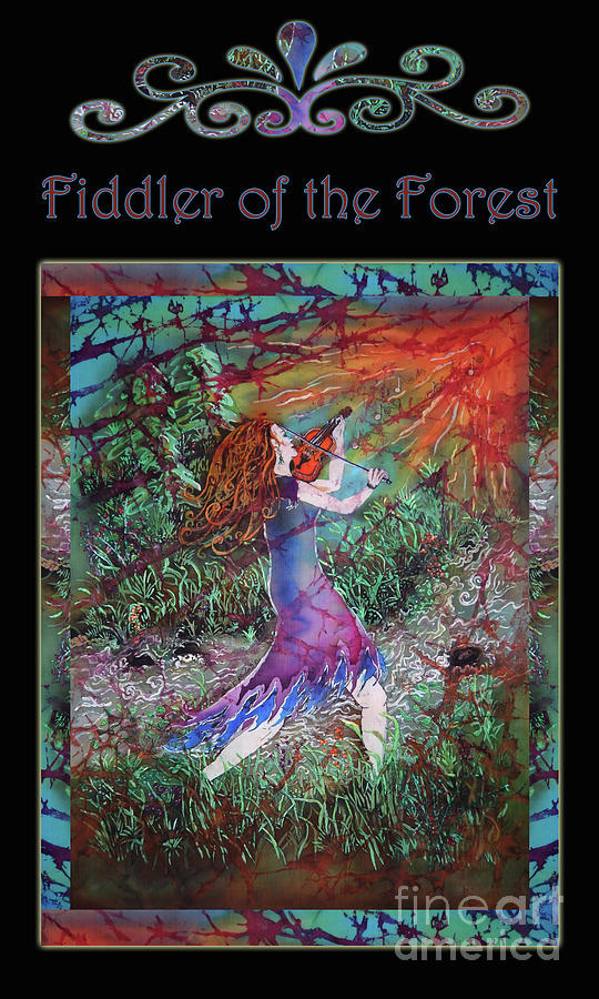 Fiddler Mixed Media - Fiddler of the Forest 3BL by Sue Duda