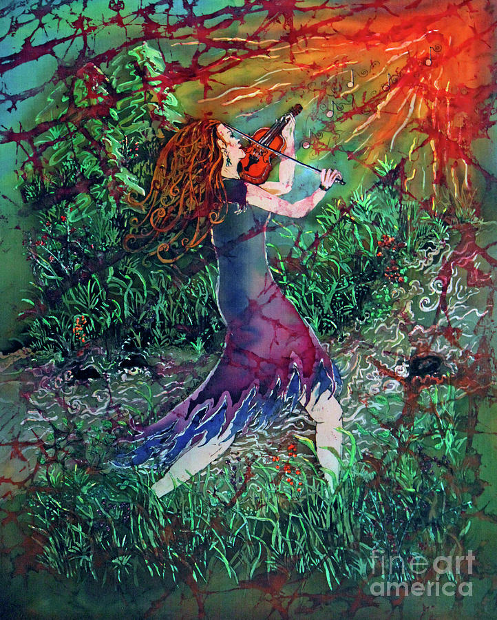 Fiddler Painting - Fiddler Of The Forest  2 by Sue Duda