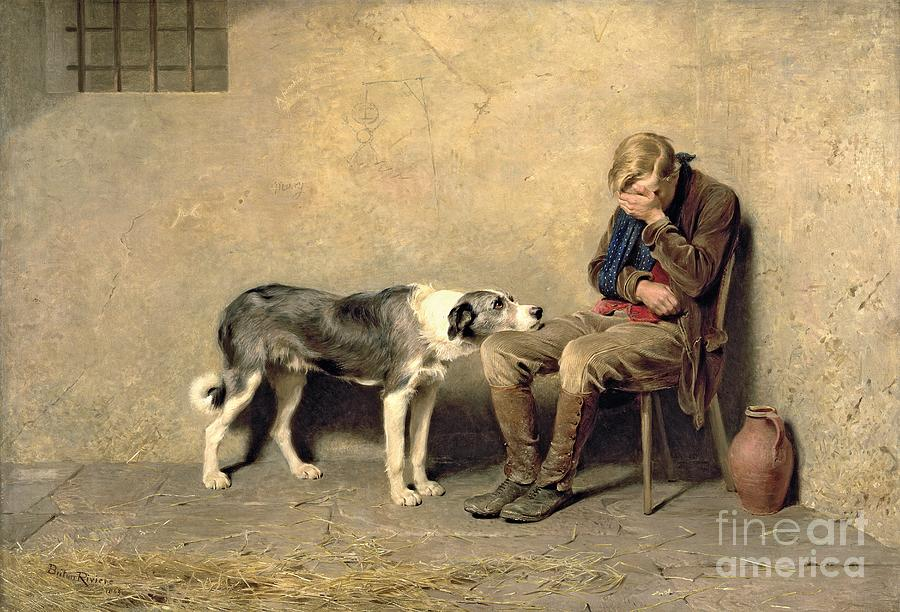 Fidelity Painting - Fidelity by Briton Riviere