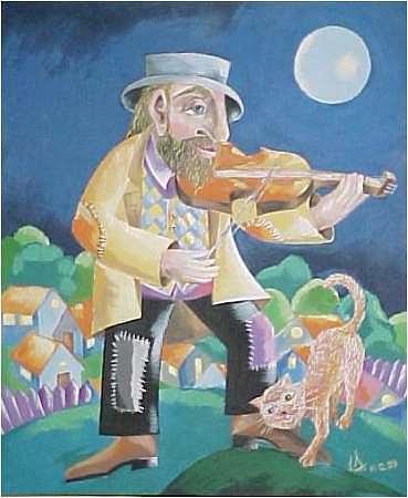 Fidler Painting - Fidler by Irena Shklover