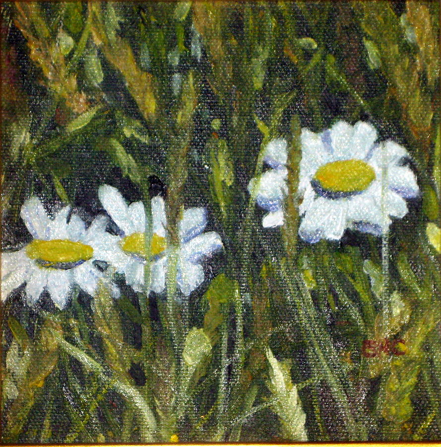 Landscape Painting - Field Daisies by Susan Coffin