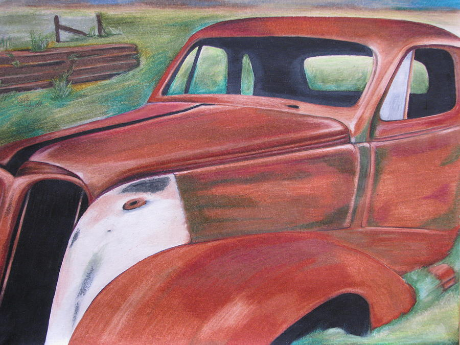 Colored Pencil Drawing - Field Find by Gayle Caldwell