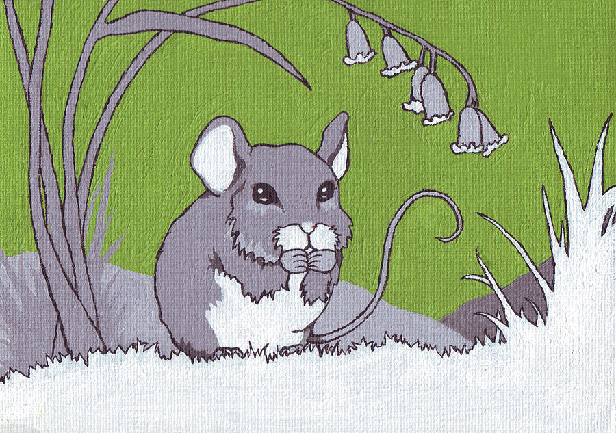 Mouse Painting - Field Mouse by Sarah Webb