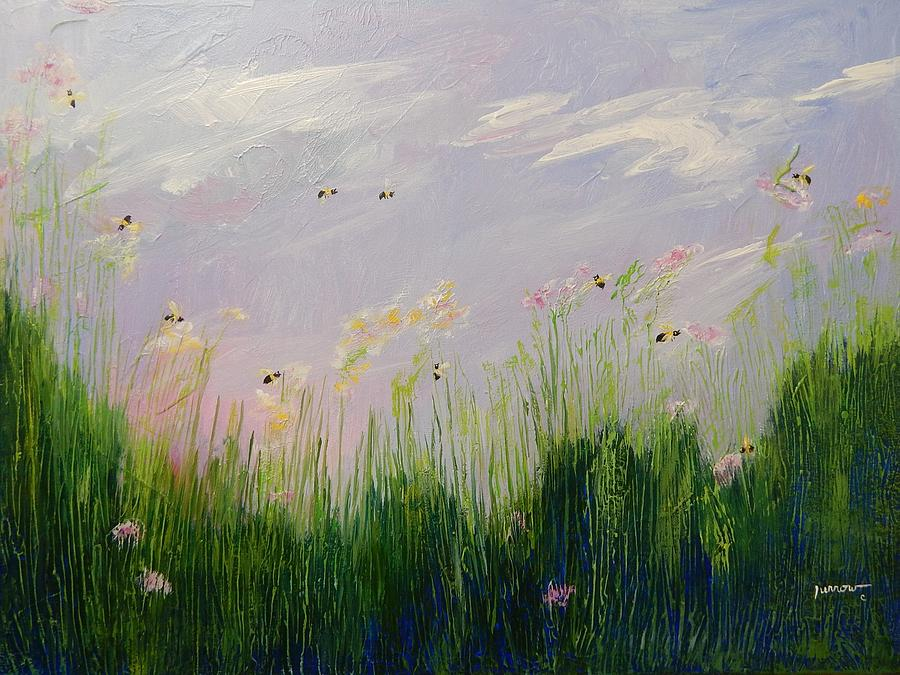 Landscape Painting - Field Of Bees by Sue Furrow