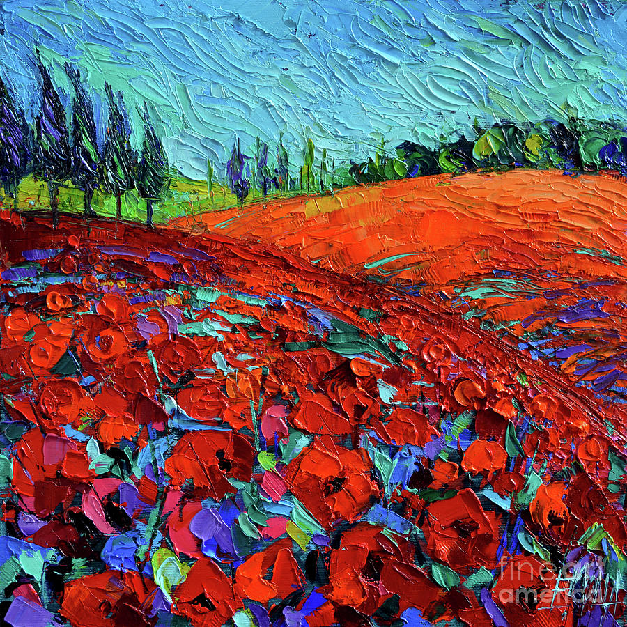 Field Of Dreams Painting - Field Of Dreams Modern Impressionist Palette Knife Oil Painting by Mona Edulesco