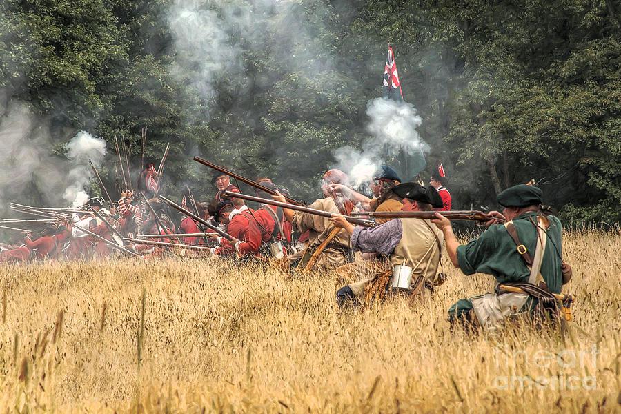 War Digital Art - Field Of Fire French And Indian War Battle by Randy Steele