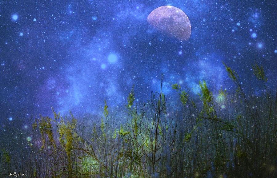 Moon Photograph - Field Of Fireflies by Molly Dean