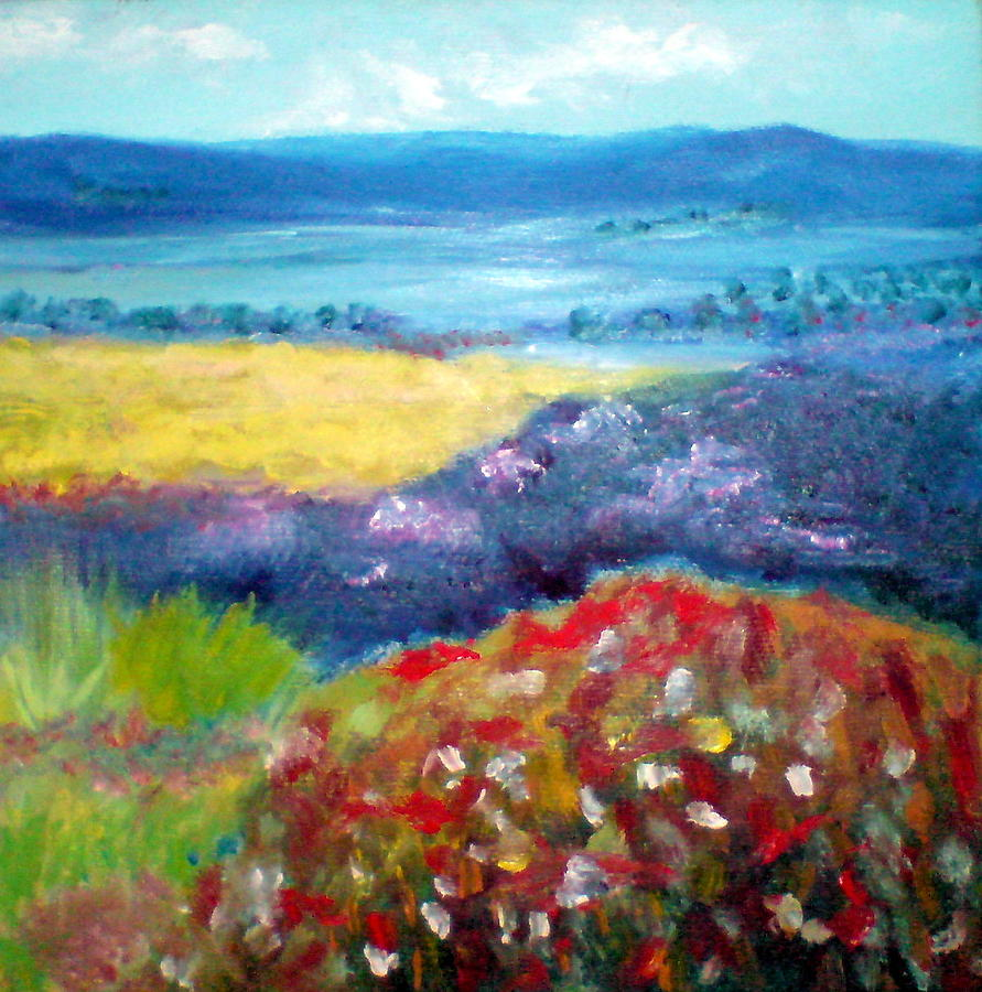 Flores Painting - Field Of Flowers 4 by Jose Maria Gijon