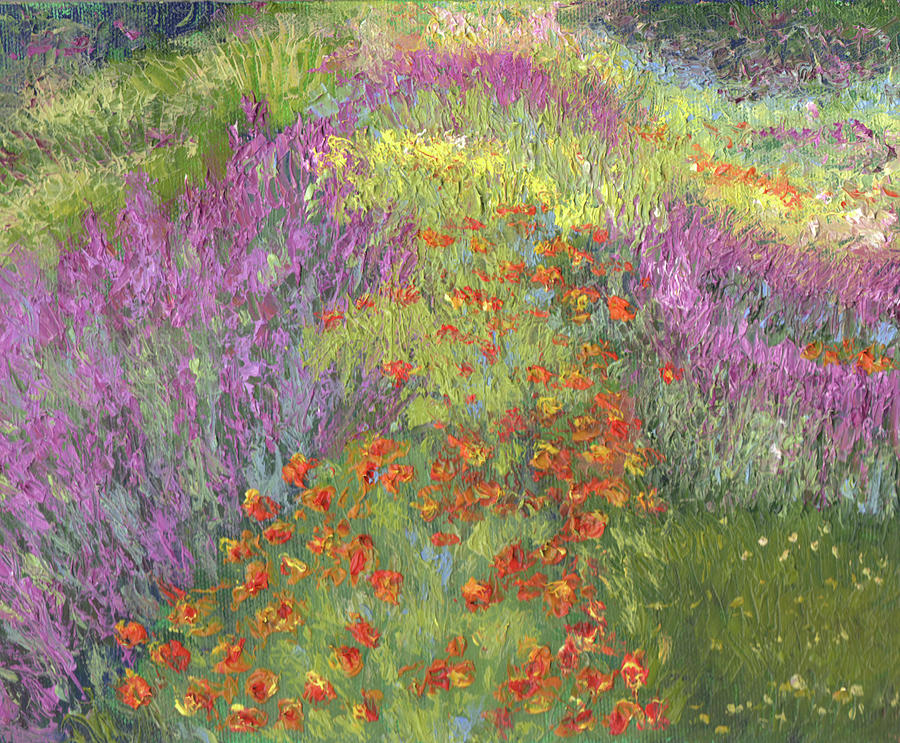Abstract Painting - Field Of Flowers by Diane Martens