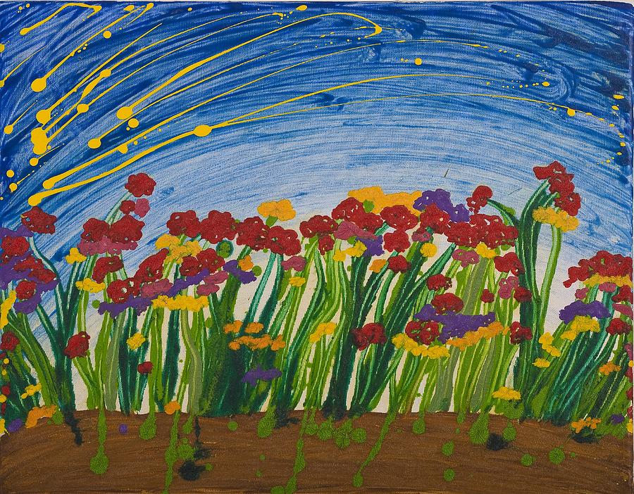 Flowers Painting - Field Of Flowers by Hagit Dayan