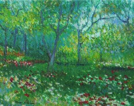 Field Of Flowers Painting by Martha Sterling Stroman